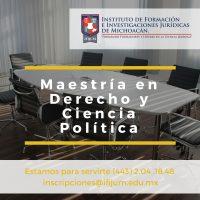 Maestría en Derecho y Ciencia Política IFIJUM